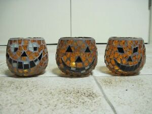 Halloween themed candle holders
