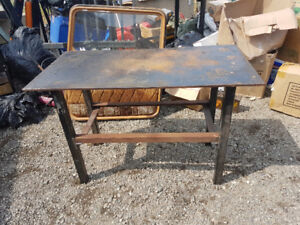 Steel fab welding tables 1/2 thick tops