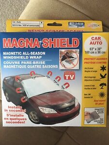 Magnetic windshield wrap