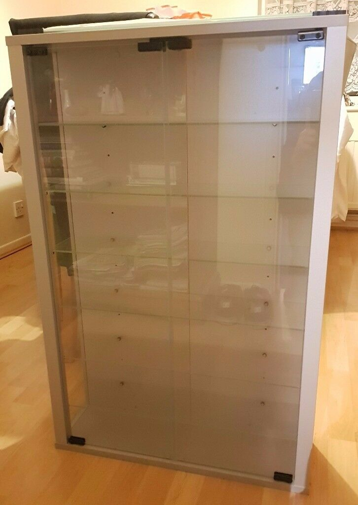 Standard Vitrosa Tall Cabinet Wall Glass Display Cabinet With Hinges