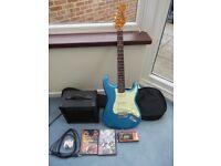 Blue Jim Deacon Electric Guitar as brand new