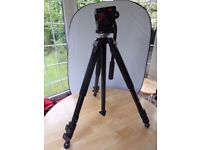 Manfrotto 55SSB Tripod with 501 Pro Video Fluid Head - OIRO £250