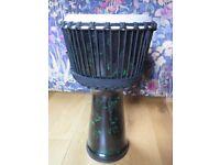 Unique Fiberglass Djembe Drum With Case 50cm x 26cm