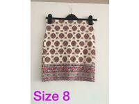 Mini skirt size 8