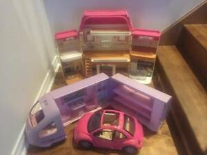 Doll House, Barbie Bus and Barbie Car