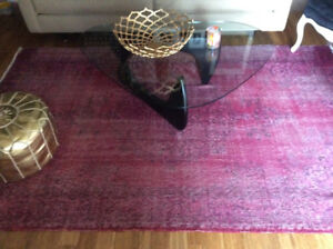 Vintage overdyed area rug