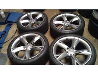 Audi y spoke 19 inch wheels