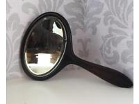 Antique c1910 Ebony Hand mirror Good Antique condition