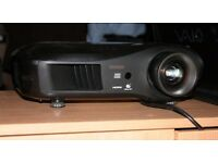 As new, Epson Full HD 1080P projector with brand new bulb