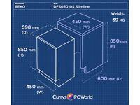 BEKO DFS05010S Slimline Dishwasher - Silver