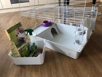 Rabbit / Guinea Pig Wire indoor cage and accessories