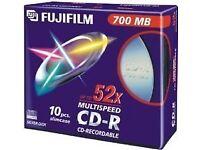 Fujifilm CD-R 700MB 52X Slim Case (10 Pack) New 3 Packs of 10 Discs
