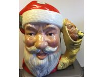 Royal Doulton Santa Jug - stocking handle - 2 available - collectors series