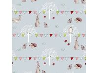 Sophie Allport Woodland Party Oilcloth Fabric 2m