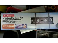 Universal 50 inch flat screen wall bracket with built-in level indicator. Brand New in Box