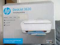 Printer / Scanner / Copier HP DeskJet 3630. Wireless. As good as new. Bought April 2017 with receipt