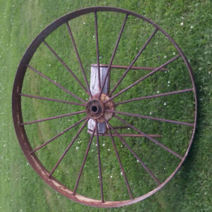 Large antique wheel