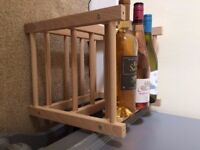 IKEA solid wooden wine rack (9 bottle)