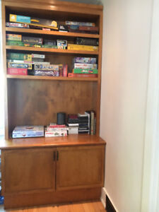 SOLID WOOD cabinets, matched pair, incredible bargain $230!!