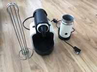 Nespresso coffee machine, aeroccino & capsule holder ~ cream