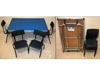 Contour Folding Foldable Aluminium Table & 4 Stackable Chairs Children Kids Set