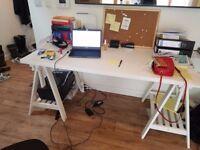 White Finnvard/Linnmon IKEA-desk £50