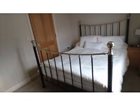 King size metal frame bed