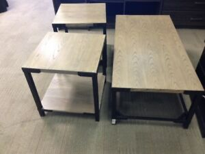 ASHLEY COFEE TABLE AND 2 END TABLES $150.00 + TAXES