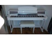 Classic Cantabile DP-60 E-Piano White and Piano Bench