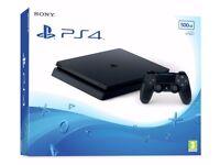 1 week old Playstation 4 Slim 500GB Black console