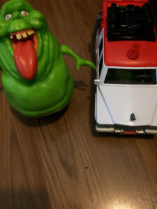 Ghostbusters Vehicle with Slimer Mini Figure and large Slimer