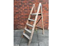 Vintage Wooden Step Ladders - 5 Tread - Painters - Perfect Shop Display
