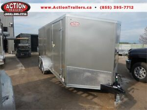 HAULIN 7X16 WITH RAMP DOOR AND ACTION PACKAGE!!