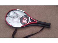 Wilson Roger Federer Tennis Racket with carry case + Wilson h2overgrip