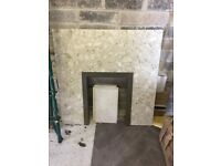 Light marble fire surround