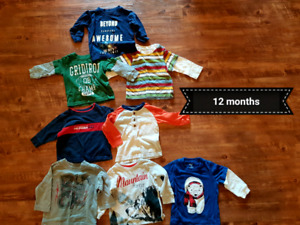 Boys long sleeve shirts 6 months up to 24 months