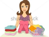 Someone to help with FOLDING LAUNDRY & other minor/small chores