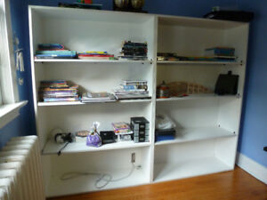 XL White Shelving/bookcase Unit - One Piece very solid
