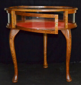 Antique coffee cabinet side table
