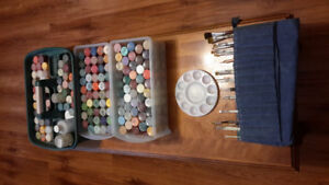 100+ Tole Paints and 20 Brushes