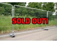 Temporary fence panels- all sold!!