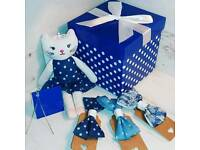 Denim bow and toy box