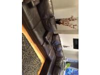 Corner sofa & 2 seater with foot stool IG5 £500.00
