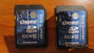 Two 32GB SD Cards Class 10 (NEW)