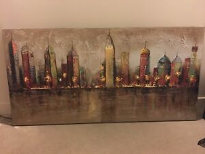 Picture/painting - city skyline (Pier 1 Imports)
