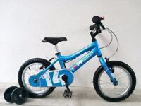 "FREE Bell with (2633) 14"" Aluminium RIDGEBACK Boys Girls Bike Bicycle+STABILISERS Age: 3-5, 95-110cm"