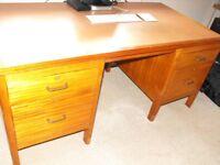 Vintage mid century desk by Moss partners London 1956.