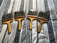 4 x Painters 8 oz Flat Brushes - New .