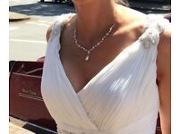 Mark Lesley chiffon wedding dress size 8/10 OPEN TO OFFERS!