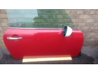 mini cooper chilli red driver's side door complete